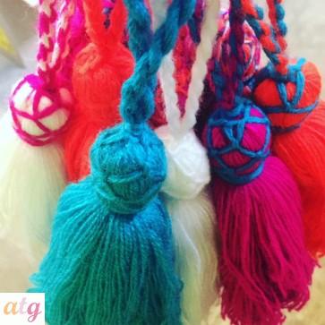 Bag Swag: Funky Wool Tassels