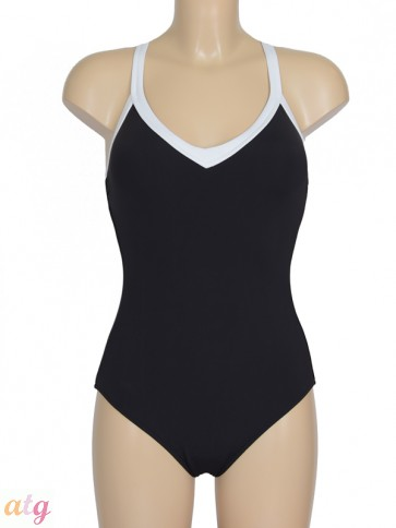 Block Party Sweetheart Maillot Black/White