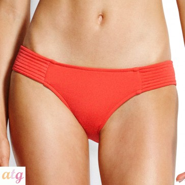 Seafolly Chilli Red Quilted Hipster