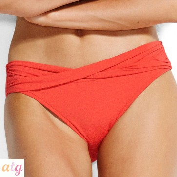 Seafolly Chilli Red Twist Band Hipster