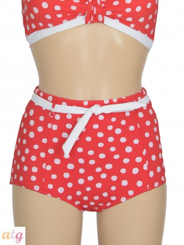Spot On Chilli Red High Waisted Pant