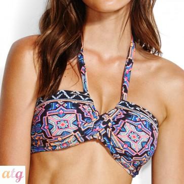 Sun Temple Bandeau Bikini top BK