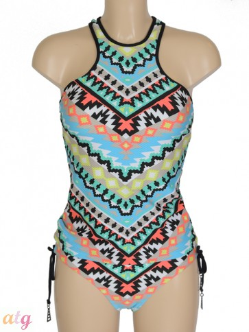 Kasbah Nectarine High Neck Singlet