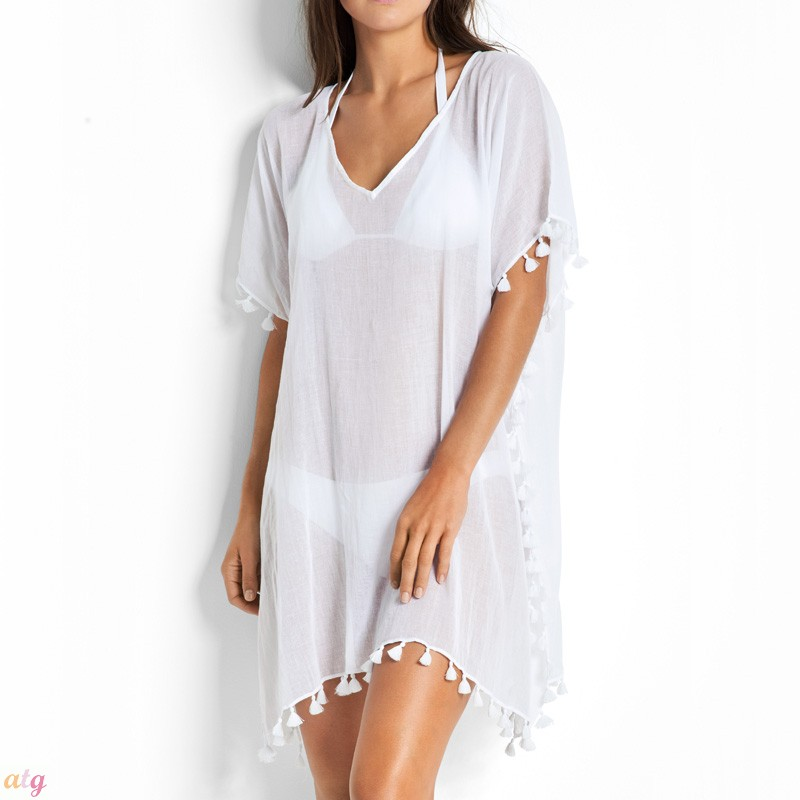 dc0f040c85 Seafolly Beach Basics White Amnesia Kaftan by Seafolly - | Lingerie ...