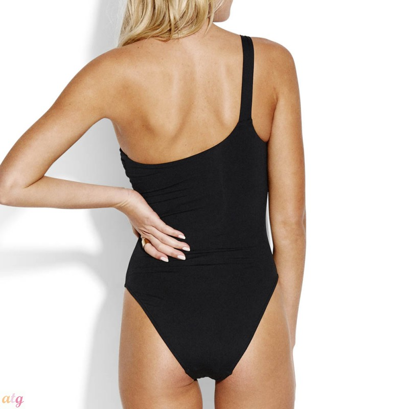 2def7f7d939 Seafolly Active One Shoulder Malliot Black by Seafolly -   Lingerie ...
