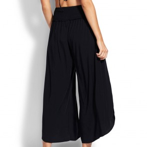 Seafolly Shirred Waist Wrap Pant white