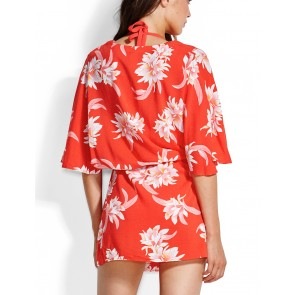 Desert Flower Kaftan Chilli Red