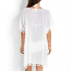 Seafolly Beach Basics White Amnesia Kaftan