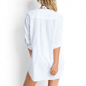 Seafolly Beach Basics White Boyfriend Beachshirt