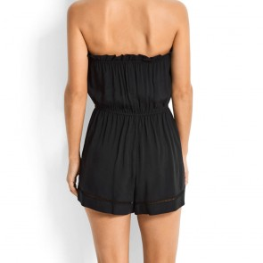 Beach Basics Pull on Playsuit Black