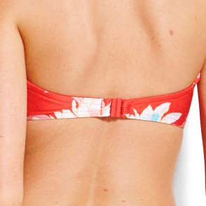 Desert Flower Bustier Bandeau Chilli Red