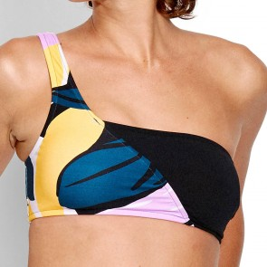 Cut Copy One Shoulder Bandeau Blueprint