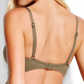 Seafolly Quilted Bralette Dark Olive