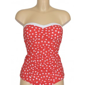 Spot on Chilli Red C/D Bandeau Singlet